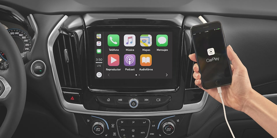 Chevrolet Traverse 2020, camioneta familiar incluye SmartPhone Integration con Apple Car Play y Android Auto